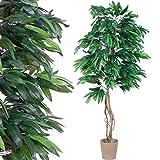 Mangobaum, Echtholzstamm, Kunstbaum, Kunstpflanze - 180 cm