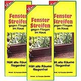 com-four 36x Fliegenstreifen, Fliegen-Fensterstreifen, gegen Fliegen, Mücken etc. im Haus (36 Stück - Streifen)
