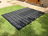 12x 8Garden Shed Boden Grid = Full Eco Kit 3,66m x 2,55m + Heavy Duty Membran Kunststoff 8x 12Füße Eco Pflastersteine Grundlagen & Auffahrt Raster