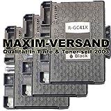 3 XXL Gel Druckerpatronen für Ricoh GC-41K Schwarz / Black kompatibel mit Aficio SG-2100N SG-3100...
