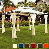 Luxus Pavillon TOPAS Festzelt 4x3 Partyzelt Garten Pavillion Gartenzelt Gartenpavillon Beige