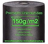 Xabian Anti Unkrautvlies 150g/m² Gartenvlies 25m² - 50m² - 75m² schwarz