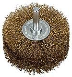 BOSCH Scheibenbürste, Messing, gewellter Draht, 0,2 mm, 80 mm, 35 mm, 4500 U/ min, 2608622130