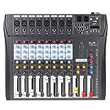 Ammoon Mischpult CT80S-USB 8 Kanal, Digital-Mic, Linie-Audio, Mischpult, Konsole mit 48V,...