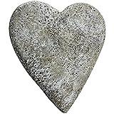 COM-FOUR® Deko Herz 'Menschen, die wir lieben', in Steinoptik, als Grabschmuck, ca. 15 x 15 x 9 cm (01 Stück - Spruch 2)