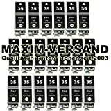 20 XL MAXIMPRINT Tinten-Patronen kompatibel zu Canon PGI-35 Black XL passend in Canon Pixma IP-100 Portable IP-100V IP-110