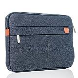 BiDZO Universal Tasche | Schutz Hülle Schule | Uni | Arbeit | Büro - Aktentasche für Lenovo TAB 4 8' PLUS | Lenovo TAB 4 8' | Lenovo TAB 4 10' - GRAU