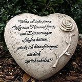 Grabherz mit Inschrift - Wenn Liebe einen Weg zum Himmel fände... Durchmesser 18cm