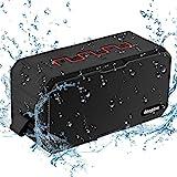 Bluetooth Lautsprecher, IP67 Wasserdicht Lautsprecher von DEEPOW, Outdoor Tragbar Musik Box für Handy, 2 x 5W Wireless Speaker/Bass Verstärker mit 3000mAh USB-aufladbarer Powerbank, Bluetooth/AUX/TF-Karte Output, Benutzerfreundliches Design gut Wahl als Geschenk