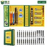 BEST TOOL - BST-8921 - Tragbares Universal Feinmechaniker Werkzeug-Set magnetisch - für Smartphone- / Tab- / Camera- / Laptop- / Uhren- / Computer- / Drucker-Reparatur - 38 Teile