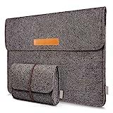 Inateck Filz Sleeve Laptop Schutzhülle, umweltfreundliche Notebook Schutztasche für neues MacBook Pro 2016 15 Zoll mit Touch Bar und Touch ID (Model A1707), Dunkelgrau