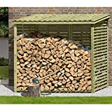 Kaminholzregal XXL Brennholzregal mit Rückwand für 3,8 m³ Holz von Gartenpirat®
