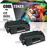 Cool Toner 2 Packs Kompatibel zu toner CE505 X 05X fuer HP LaserJet P2055, HP LaserJet P2055D, HP LaserJet P2055DN, HP LaserJet P2055X, 6500 Seiten,