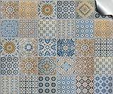 Tile Style Decals 24 stück Fliesenaufkleber für Küche und Bad TP 60-4' | Verschiedene Mosaik wandfliesen Aufkleber für 10x10cm Fliesen Deko-Fliesenfolie für Küche u. Bad