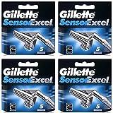 20Klingen Gillette Sensor Excel Rasierklingen Druckerpatronen Refill (5Klingen X 4Stück)