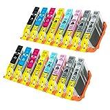 16 Tintenpatronen für Canon Pixma Pro 100 CLI-42 6384 6385 6386 6387 6388 6389 6390 6391 B001 je 12ml