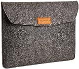 AmazonBasics Laptop-Tasche, Filz, für Displaygrößen bis 13 Zoll (33,02 cm), Grau