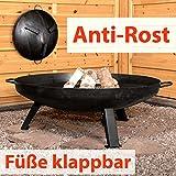 Köhko Feuerschale Ø 79 cm - Beine anti-Rost lackiert - klappbare und abnehmbare Beine 41005