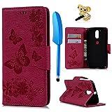 Motorola Moto G4 Plus Hülle Case YOKIRIN Großer Schmetterling Tasche Hülle PU Leder Flipcase Book...