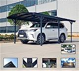 Carport Vordach für Auto in Polycarbonat und Aluminium–505x 300cm-außen oder Garten