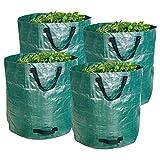 4x Gartenabfallsack faltbar 272 Liter Gartensack Laubsack Rasensack Laub Sack Rasen