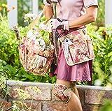 Garden Girl TB30Chelsea Druck Werkzeug Gürtel–Grün/Pflaume/Pink
