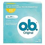 o.b. Original Normal Tampons mit geschwungenen Rillen I Für zuverlässigen Schutz ideal für normale Tage I 64er Pack