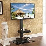 Fitueyes fitueyes drehbar TV Bodenständer für 32 bis 65 Zoll LED LCD TV Bildschirm Schwarz...
