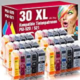 ms-point® 30 kompatible Patronen für Canon Pixma IP3600 IP4600 IP4600X IP4700 MP540 MP550 MP560 MP620 MP630 MP640 MP640R MP980 MP990 MX860 MX870 MX870 Series PGI-520 CLI-521