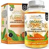 Bio Curcumin (Kurkuma) Kapseln 600 mg mit schwarzem Bio-Pfeffer| Hochdosiert | 120 Kapseln (für Vegetarier geeignet) | Hergestellt in Großbritannien