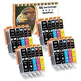 D&C 20Set Druckerpatronen komp. für Canon Pixma PGI-570 CLI-571 MG5750 MG5751 MG5752 MG5753 MG6850 MG6851 MG6852 MG7750 MG7751 TS5050 TS5051 TS5053 TS5055 TS6050 TS6051 TS6052 TS8050 TS8051 TS8052