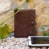 Tablet Hülle Schutzhülle Sleeve iPad schwarz braun Skull Totenkopf Python Schlange Reptil, von wagnerstrasse