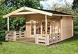 Weekendhaus 137 B - Ausführung: Gr. 1, Schindel- bedarf: 10 Pkt, Außenmaß: 300 x 380 cm, Umb.Raum: 26,8 m³