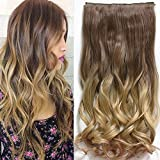 Neverland 24 Zoll (60 cm) Voll Leiter Clip in Hair Extensions Ombre wellenformige lockige Dip Dye 8#/25#