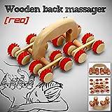 Gimbal® Biegsames Cellulite Rollenmassagegerät aus Holz zum Straffen von Gewebe, Anti-Cellulite Holzmassagegerät (Rot)