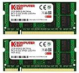 Komputerbay 4GB 2X2GB DDR2 667MHz PC2-5300 PC2-5400 DDR2 667 (200 PIN) SODIMM Laptop-Speicher