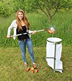 Apfel-Sackhalter SACKI mit Erddorn - Bag Man - der perfekte Helfer für Ihren Apfel-Sammler 'Roll-Blitz' Made in Germany - Der Profi Sackhalter zum einfachen befüllen von Säcken mit Äpfeln, Walnüssen, Haselnüssen, Eicheln, Kastanien - super stabiler Stahl silber verzinkt