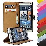 EximMobile - Book Case Handyhülle für HTC One X mit Kartenfächer in Blau | Schutzhülle aus Kunstleder | Handytasche als Flip Case Cover | Handy Tasche | Etui Hülle Kunstledertasche