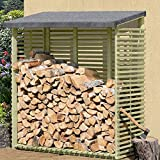 Kaminholzregal mit Rückwand für 1,8 m³ Holz von Gartenpirat®