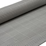 PVC Sichtschutzmatte 180x300cm Grau Windschutz Sichtschutz Doppelstabmatten Gartenzaun Terrasse Zaun NEU
