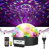 Disco Licht , JELEGAN Bühne Licht LED Lichteffekte MP3 Musik Player RGB Sprachaktiviertes Kristall Magic Ball Party Beleuchtung für Show Disco KTV Stab Stadium Club Hochzeit Geburtstag Party