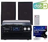 auvisio Schallplattenspieler: 5in1-Plattenspieler mit DAB+/FM-Radio, Bluetooth, CD/Kassetten-Player...