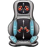ZHANGTAOLF Ganzkörper-Massage-Sessel-Pad -shiatsu-Nacken-Rückenmassagegerät mit Wärme- und Luftkompresse, Knete voller Rückenmassagesitz Tragbare Stuhlmassager für Rücken und Hals