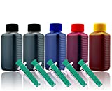 500ml Nachfülltinte Druckertinte Refillset für Canon PGI-580/CLI-581 (für PIXMA TR7550 TR8550 TS6100 TS6150 TS6151 TS6240 TS6241 TS6250 TS6251 TS705 etc.)