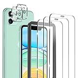 omitium 5 Stück Panzerglas kompatibel mit iPhone 11 Schutzfolie, 2 Kamera Panzerglas und 3 Displayfolie [mit Rahmen-Installationshilfe], 9H Härte Glasfolie, Kratzen folie für iPhone 11