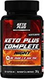 Keto Burn Plus NIGHT, Ohne Koffein, Complete Kapseln für den Fettstoffwechsel, 60 Kapseln