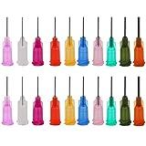 Shintop Spritze Nadel, Stumpfer Spitzen Luer Lock 0,5 Zoll für Nachfüllen Liquid, Tinten, Kleben (100 Stück, 10 Verschiedene Größen)
