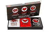 Lustiges und Romantisches Spiel für Paare: Karten-Set mit Konversationsstartern, Flirtspielen und coolen Herausforderungen – 3 Spiele in Einem – wähle aus Gesprächs-, Flirt- oder Wagniskarten