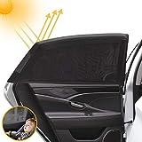 4 Stück Sonnenschutz Auto Baby mit UV Schutz, Auto Sonnenschutz für Baby, Autofenster Sonnenschutz für Kinder, Sonnenblende Sonnenschutzrollos Zubehör für Seite Heckscheibe Fenster