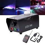 U`King Nebelmaschine LED 500W mit Effekt RGB Farbe per Fernbedienung und DMX Groß für Hochzeit DJ...
